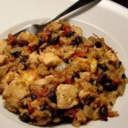 Chicken and Black Bean Casserole Allrecipes.com- use brown rice ...