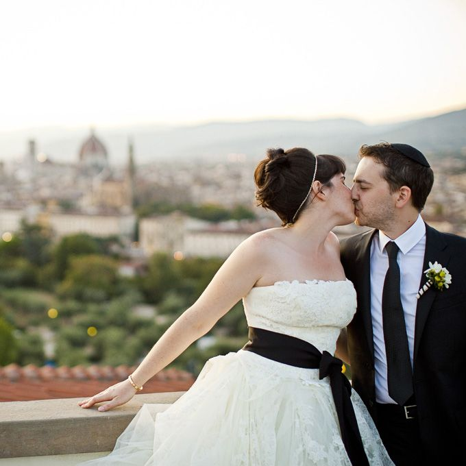 Sarah & Benjamin in Florence, Italy. W. Scott Chester Photography.