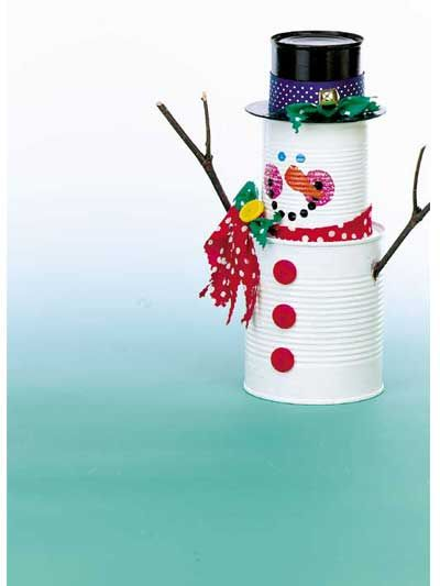 Tin can snowman snowmen frosty friends crafts do it for Tin can tin man craft