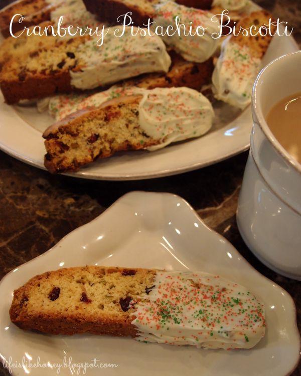 Cranberry Pistachio Biscotti | Breads | Pinterest