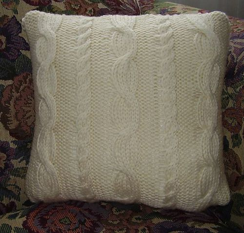 Knit Cable Pillow Pattern A bit of Knit Pinterest