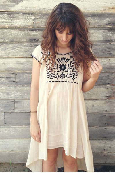 Beige-embroidered-free-people-dress