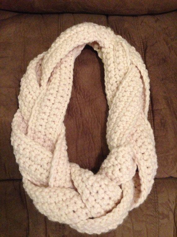 Braided Crochet Infinity Scarf/Cowl
