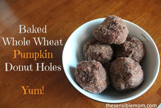 Bake these baked whole wheat pumpkin donut holes for National Doughnut ...