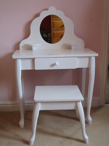Girls Dressing Table : ... about White Wooden Dressing Table and Stool for Little Girl from ELC