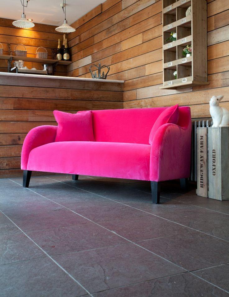 Pink velvet sofa  Lovely Velvet Furniture  Pinterest