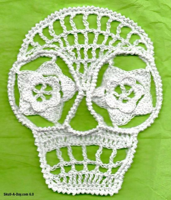 Crocheted Skulls Crochet Pinterest