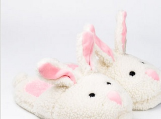 The real deal: bunny slippers!
