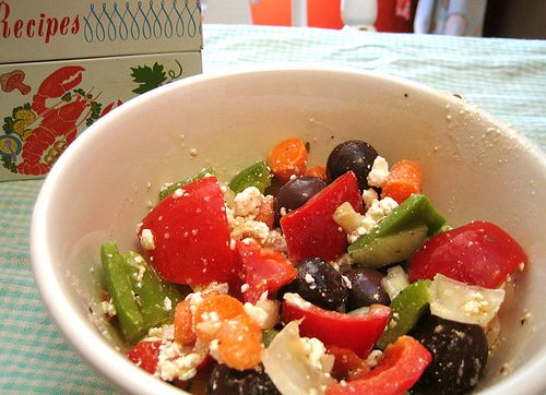 Greek-style salad | Recipies to Try - Salad | Pinterest