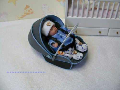 Baby doll car seat carrier