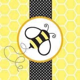 Convite de abelha para festa infantil
