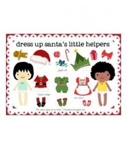 Free printable christmas paper dolls christmas pinterest