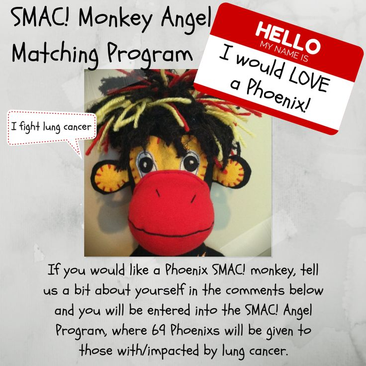 Give a SMAC! Monkey! Let's SMAC! #LungCancer During Lung Cancer Awareness Month…and Beyond.