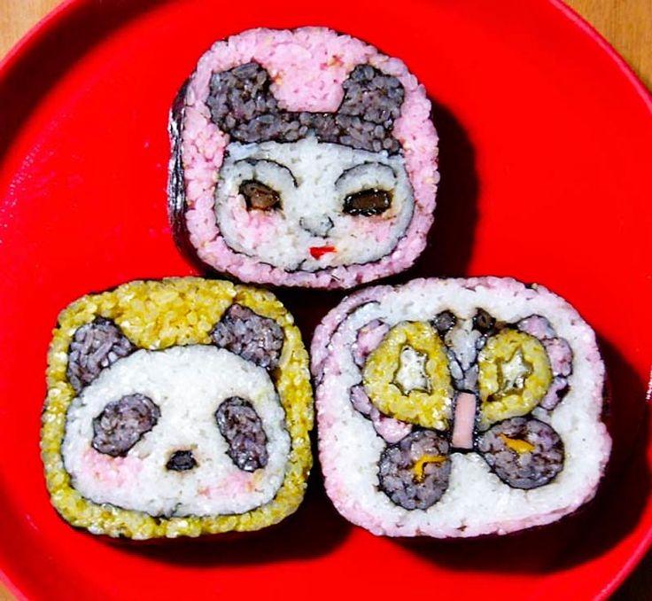 ... Удивительный суши арт | Delicious | Pinterest: http://pinterest.com/pin/173036810656378630/