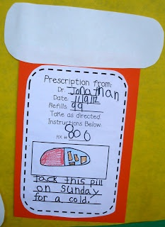 To use with bad case of the stripes prescription writing activity