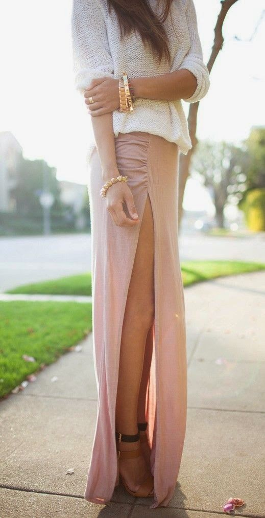 Attractive Side open Full Skirt And With Heels