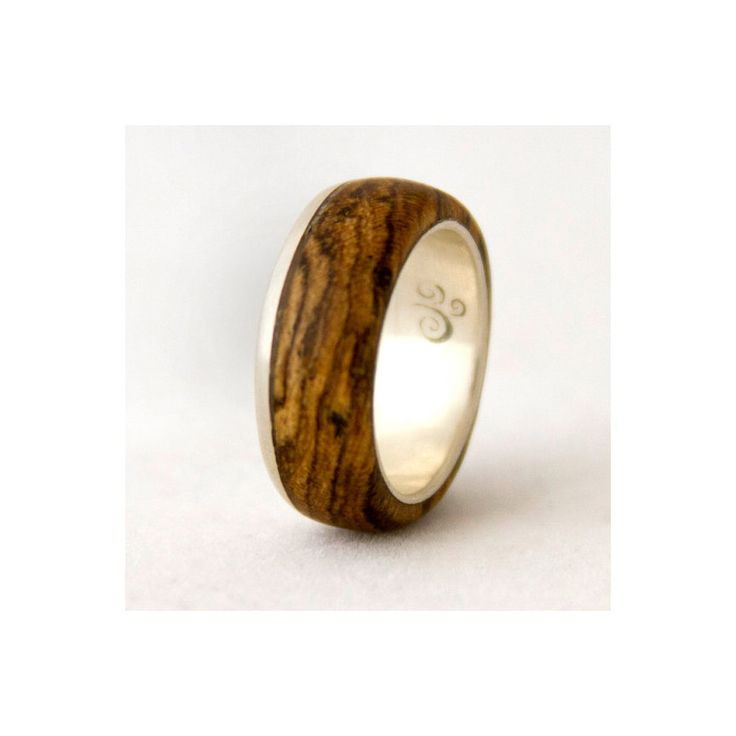 silver ring with wood mens wedding band with by aboutjewelry, 145.00