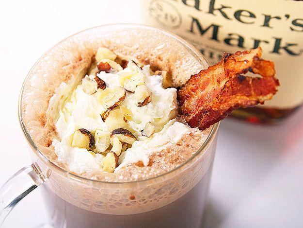 Bacon, Bourbon, and Hazelnut Hot Chocolate