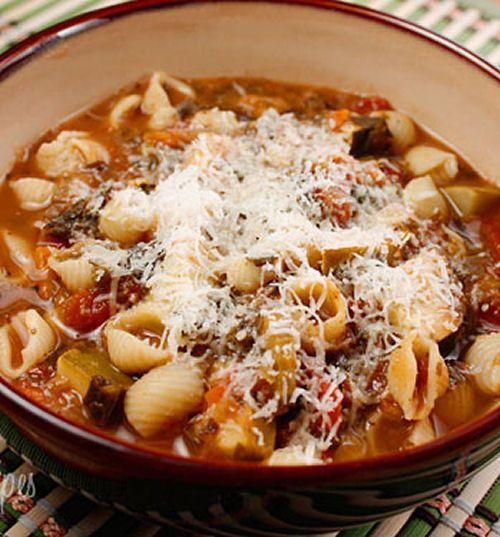 Crock Pot Minestrone Soup | Food and Fancies | Pinterest