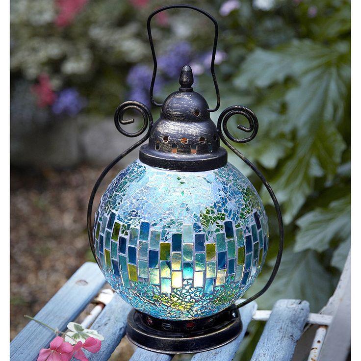 mosaic tea light lantern