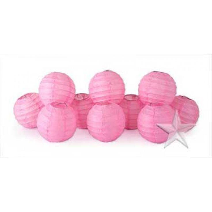 String Lights In Bulk : Mini Lanterns String Lights BULK - Light Pink [CSML82 Light Pink Stri?