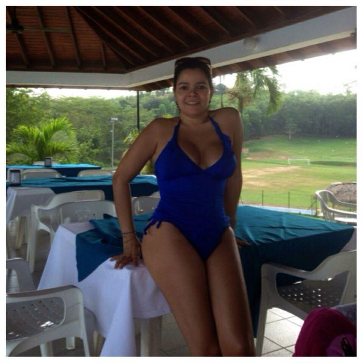 Vestidos De Baño Azul Rey:Vestido de baño Azul Rey