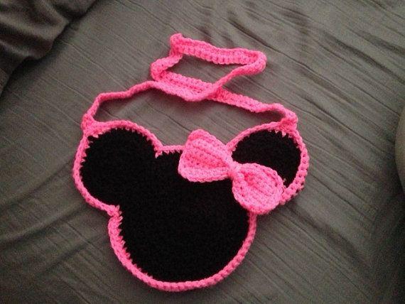 Free Crochet Mickey Mouse Purse Pattern : Minnie Mouse Crochet Purse