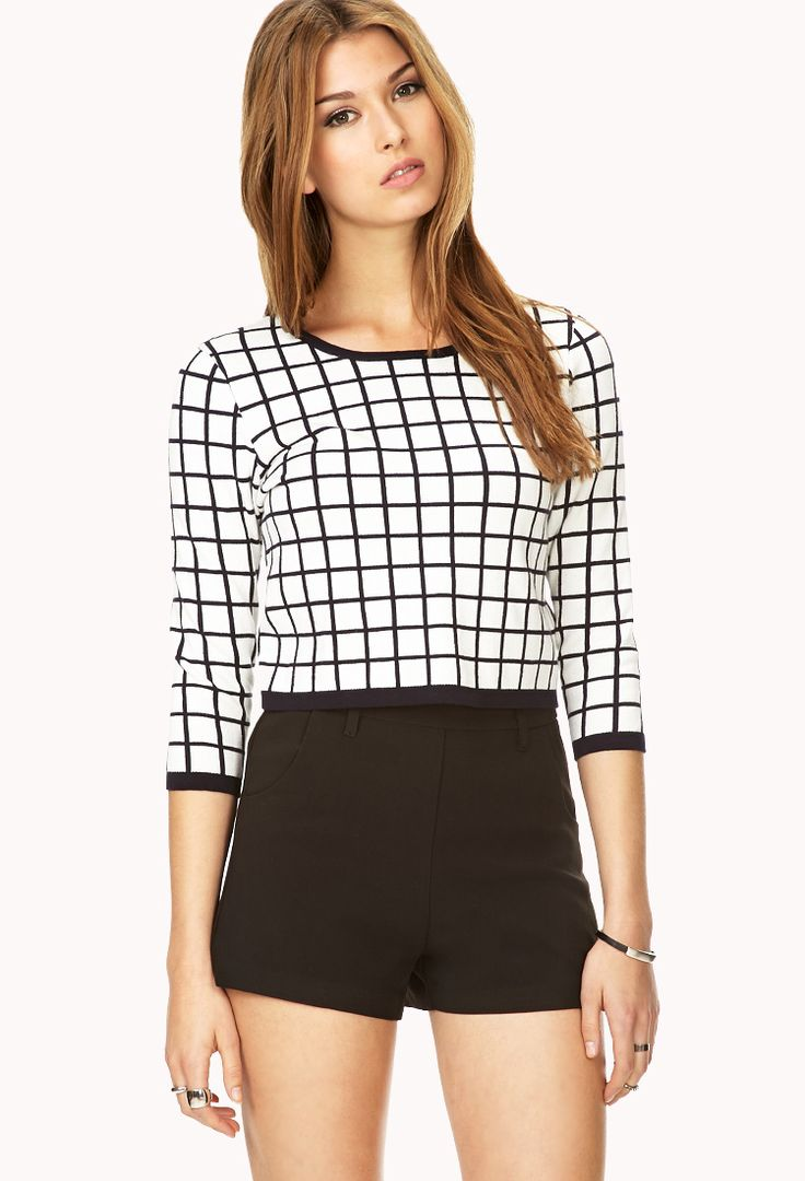 Retro Grid Cropped Sweater | Christmas Sale Wish List | Pinterest