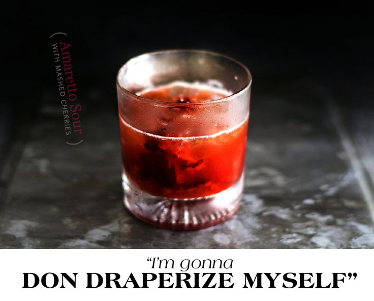 cherry-amaretto-sour | PARTY GIRL DRINKS! | Pinterest