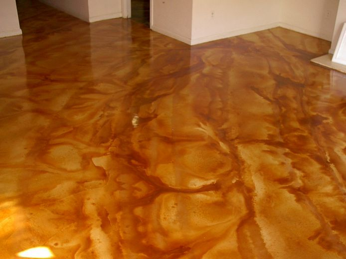 Stained acid washed concrete concrete acid wash pinterest for Acid wash concrete floors