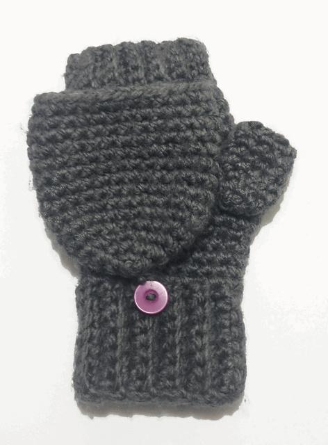 Convertible Mitten Knitting Pattern : Glittens/ Convertible Mittens Pattern pattern by Claire Rodriguez
