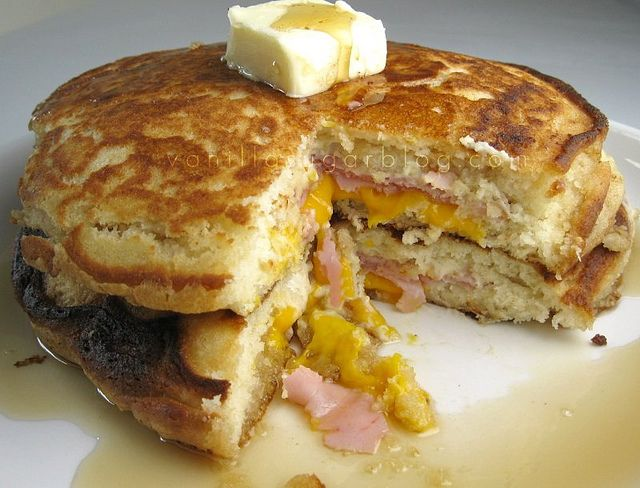 cheddar burger bacon and cheddar scones bacon cheddar filled pancakes ...