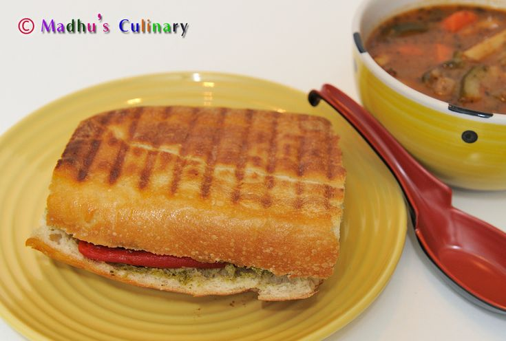Grilled Vegetable Panini | Vegetarian Indian Recipes | Pinterest