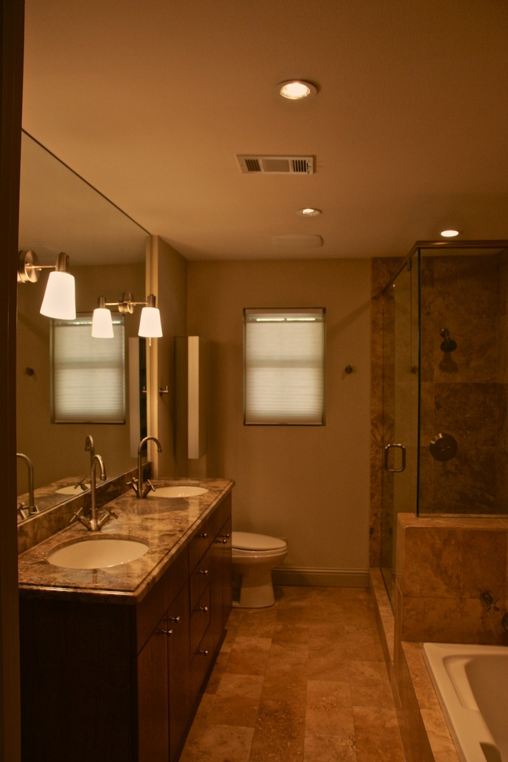 Master bathroom before new paint home sweet home pinterest for New home bathrooms