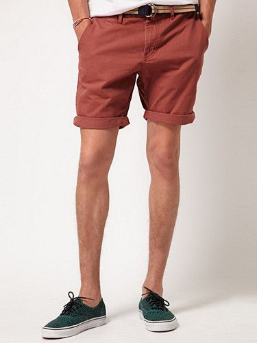 2012.06.19. Belted chino shorts from Solid. Available through our new friends at ASOS.