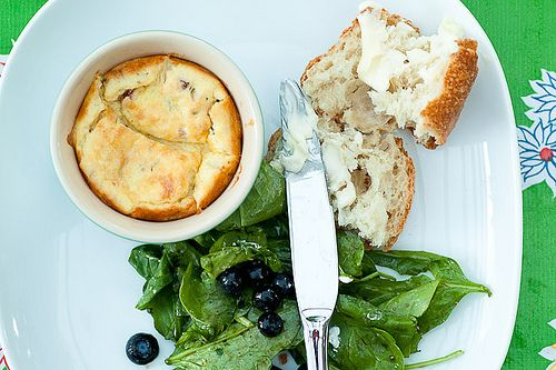 Herb and Goat Cheese Souffle | Veggie Friendly | Pinterest