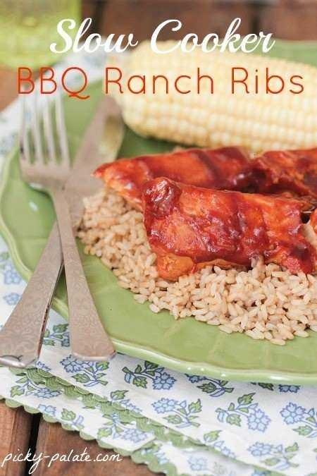 Slow cooker bbq ranch ribs | Yummy Food | Pinterest