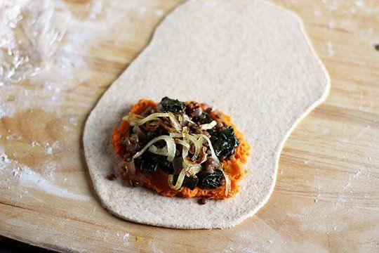 travel recipe spiced lentil sweet potato amp kale whole wheat pockets ...
