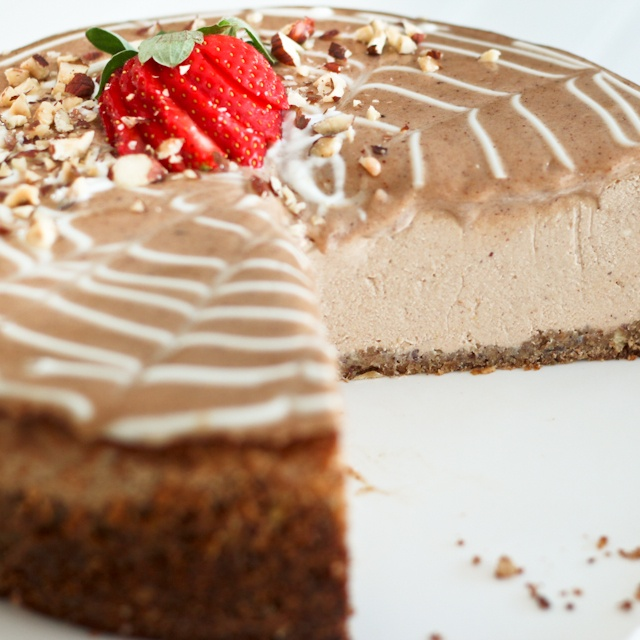 Decadently Healthy Chestnut and Hazelnut Cheesecake… or what I had ...