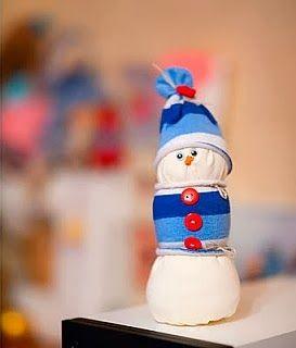 Diy projects diy sock snowman for kids pinterest
