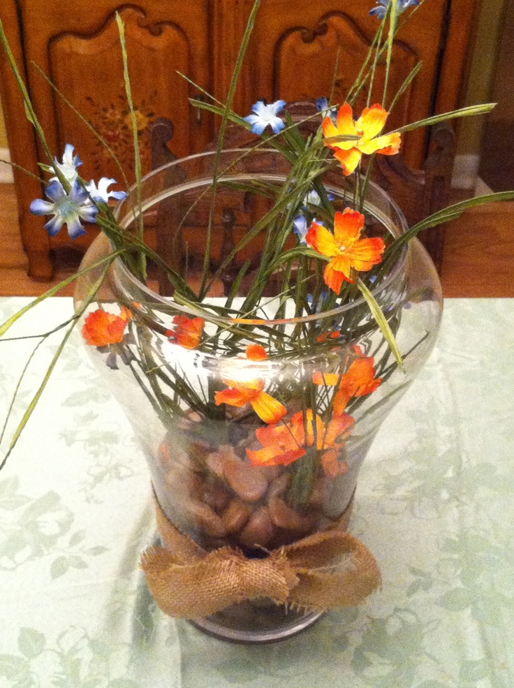 Rustic spring centerpiece home sweet pinterest
