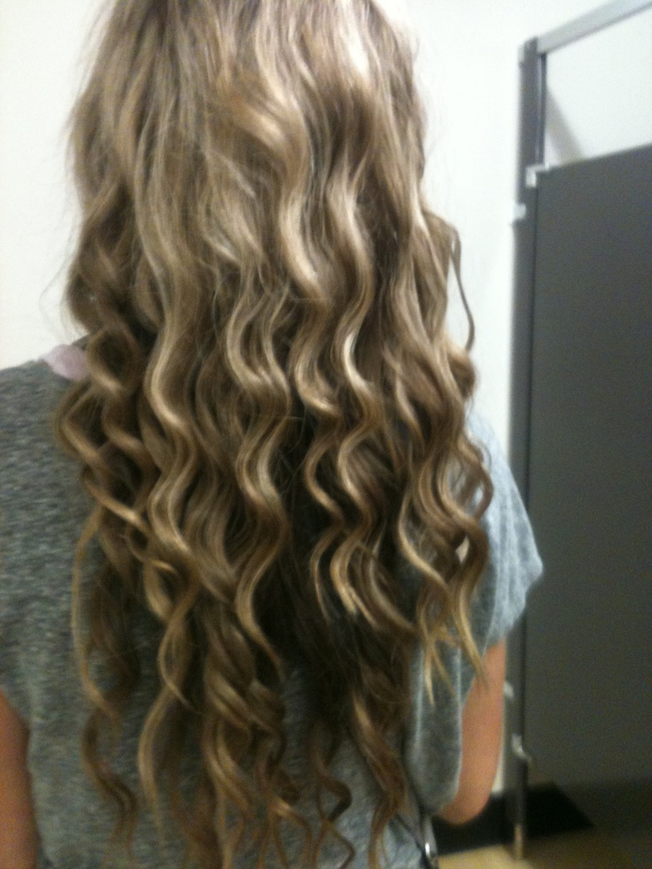 how to get long loose curls with a wand