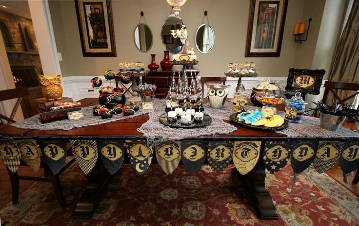 Awesome Table Set Up Party Ideas Harry Potter Pinterest