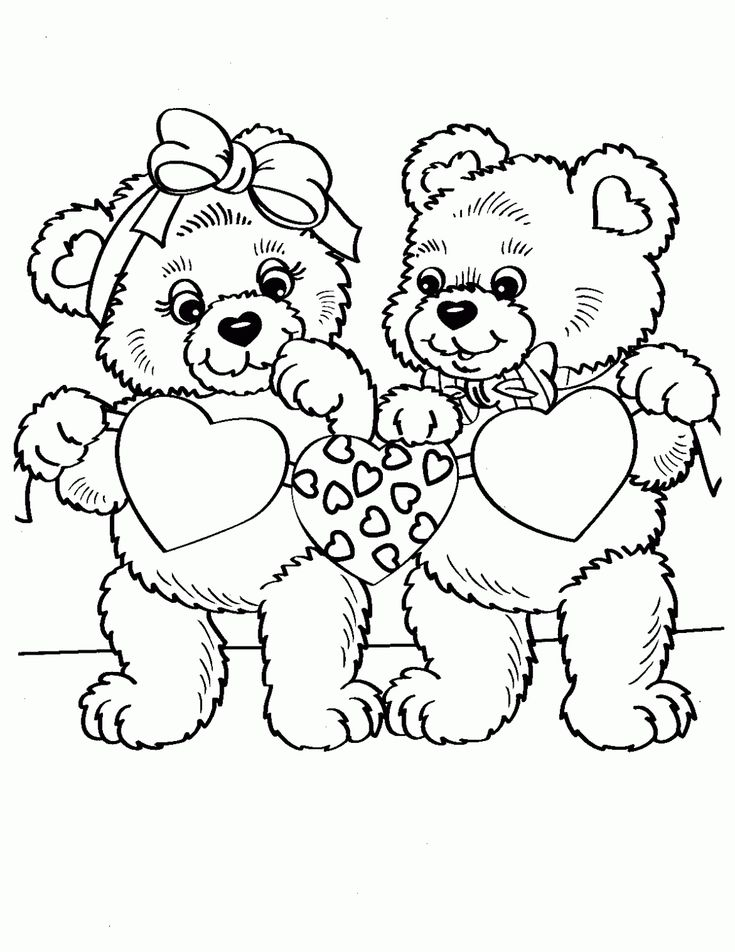 Valentine Animals Coloring Pages : Valentine animal coloring pages pinterest