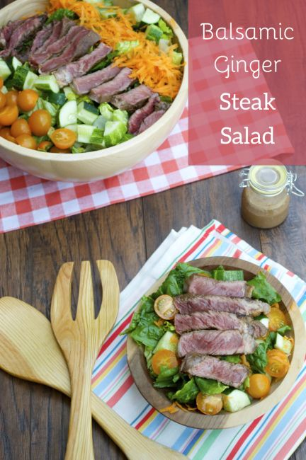 Balsamic Ginger Steak Salad by Plaid and Paleo. #paleo