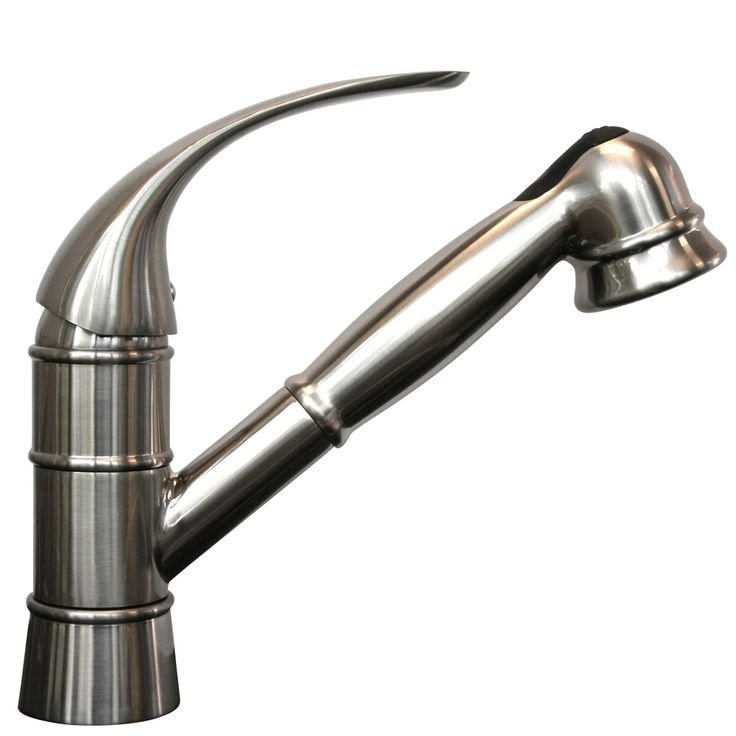 traditional stainless steel pull out kitchen faucet