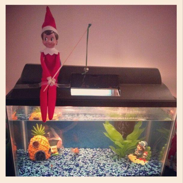 Elf On The Shelf Fishing Elf On The Shelf Pinterest