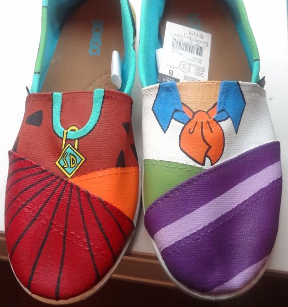 Women's Scooby Doo shoes by KatieLadyCrafts on Etsy, $60.00