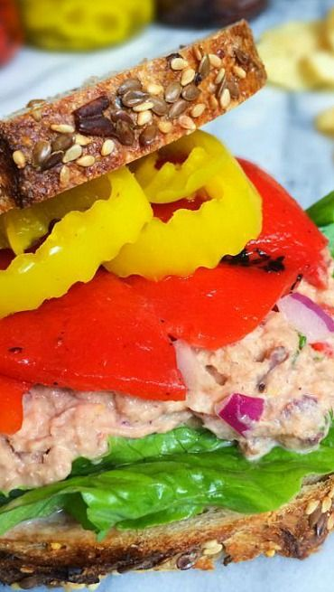 Mediterranean Tuna Salad Sandwich | Recipe