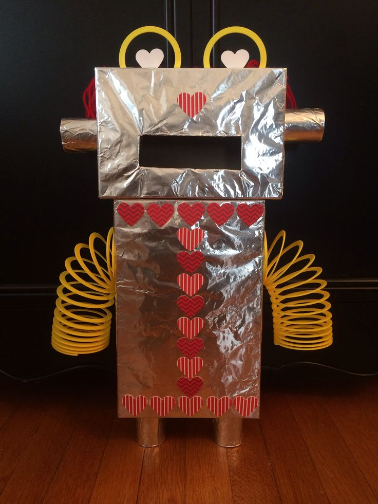robot valentines box